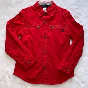 Red Guess dress shirt